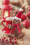 Christmas gingerbread man Stock Image