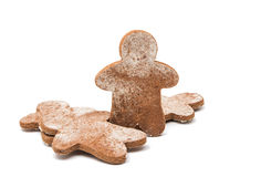 Christmas gingerbread man isolated Stock Image