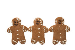 Christmas gingerbread man isolated Stock Images
