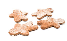 Christmas gingerbread man isolated Royalty Free Stock Photo