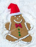 Smiling Christmas gingerbread man Royalty Free Stock Photo