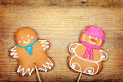 Christmas gingerbread man Royalty Free Stock Photography
