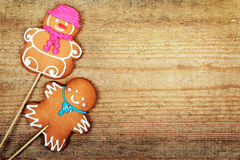 Christmas gingerbread man Royalty Free Stock Images