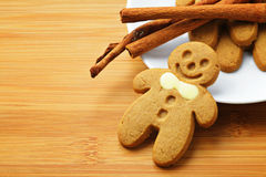Christmas gingerbread men Stock Photography