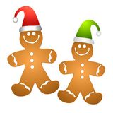 Christmas Gingerbread Men Royalty Free Stock Photography