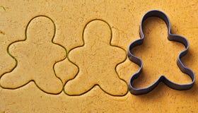 Christmas gingerbread men cookies Stock Image