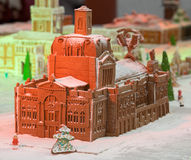 Christmas gingerbread palace. Christmas sweets. Gingerbread palace made from cookies Royalty Free Stock Photo