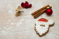 Christmas gingerbread. Placed on table Stock Image