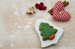 Christmas gingerbread. Placed on table Stock Photography