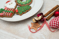 Christmas gingerbread. Placed on table Royalty Free Stock Photo