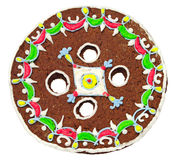 Christmas gingerbread in the shape of a button Stock Images