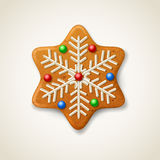 Christmas gingerbread snowflake Royalty Free Stock Photography