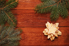 Christmas gingerbread star Stock Photography