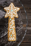 Christmas gingerbread star Royalty Free Stock Photo