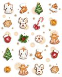 Christmas Gingerbread and Sweets vector illustration