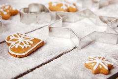 Christmas gingerbread on the table Stock Photography