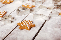 Christmas gingerbread on the table Royalty Free Stock Photography