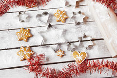 Christmas gingerbread on the table Stock Image