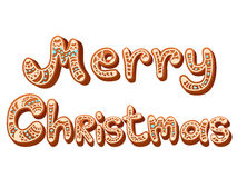 Christmas gingerbread text letters sign isolated Royalty Free Stock Photography