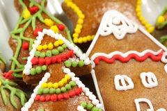 Christmas gingerbread tree Royalty Free Stock Images