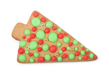 Christmas gingerbread tree cookie Royalty Free Stock Image