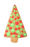 Christmas gingerbread tree cookie Royalty Free Stock Images