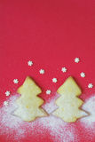 Christmas gingerbread tree cookie Stock Photo