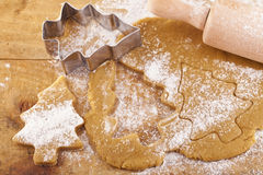 Christmas gingerbread tree cookies Stock Photo