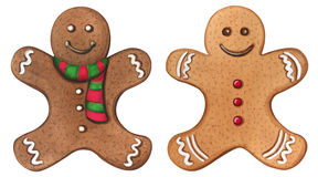 Christmas gingerbread watercolor cookies Royalty Free Stock Photos