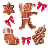 Christmas gingerbread. . Watercolor illustration. royalty free illustration