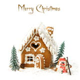 Christmas gingerbread on white background Stock Images