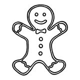 Christmas gingerbread on white background. Vector illustration Royalty Free Stock Photography