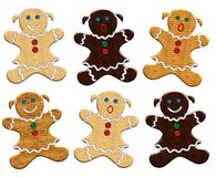 Christmas gingerbread woman Royalty Free Stock Photography