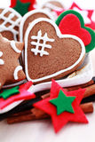 Christmas gingerbreads Stock Images