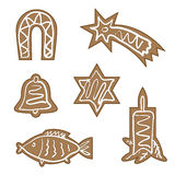 Christmas gingerbreads. Illustration for the web Royalty Free Stock Image