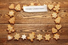 Free Christmas Gingerbreads Royalty Free Stock Images - 46198689