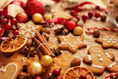 Christmas gingerbreads baking Royalty Free Stock Photo