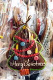 Christmas gingerbreads at christmas market.  Stock Images