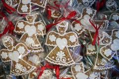Christmas gingerbreads at christmas market.  Stock Image
