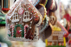 Christmas gingerbreads at christmas market.  Royalty Free Stock Image