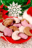 Christmas gingerbreads with icing Royalty Free Stock Photo