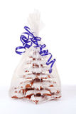 Christmas gingerbreads tree on white background Stock Images