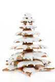 Christmas gingerbreads tree on white background Stock Photos