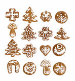 Christmas gingerbreads on white background Stock Photo