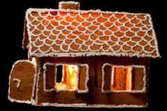 Christmas gingernut house Stock Images