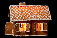 Christmas gingernut house Royalty Free Stock Photography