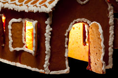 Christmas gingernut house Royalty Free Stock Image