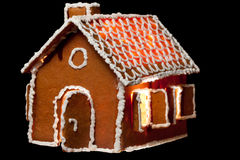 Christmas gingernut house Stock Photo