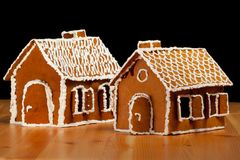 Christmas gingernut house Royalty Free Stock Photo