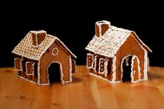 Christmas gingernut house Stock Image